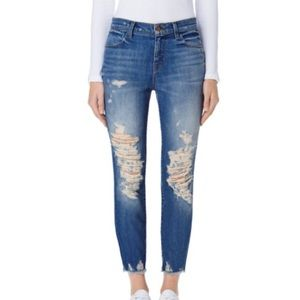 "J Brand ""Alana"" Cropped High-Rise Skinny Jeans."